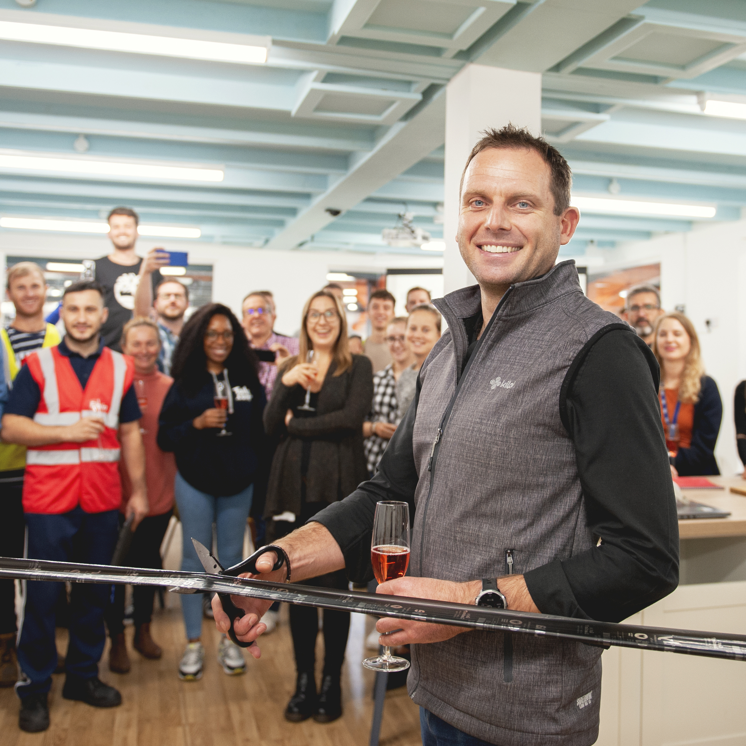 James, oficially opening our heathrow office expansion