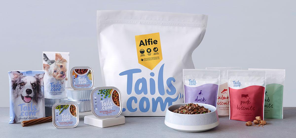 Full range of tails.com food and treats