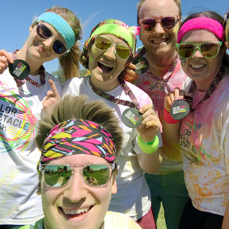 our colour run participants